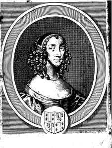 "Hannah Woolley, frontispiece of ""The Gentlewoman's Companion"" (1673)"