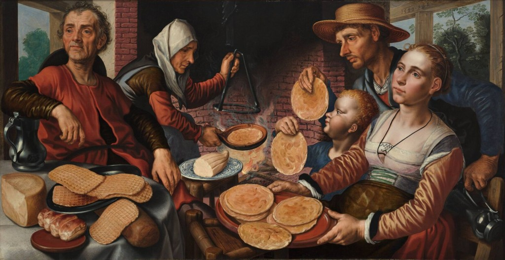 Pieter Aertsen (1508-1575), Still Life with Waffles and Pancakes. From Wikimedia Commons