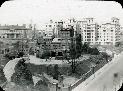 """Mary Henderson (1842-1931) was certainly one of the """"rich and fashionable."""" Shown here is her Washington DC home (built c. 1889) shortly before it was razed in 1949."""